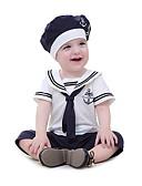 tanie Baby Boys' One-Piece-2 szto. Dziecko Dla chłopców Aktywny / Podstawowy Codzienny / Plaża Patchwork Krótkie rękawy Bawełna / Poliester Jednoczęściowe Biały