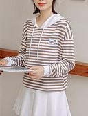 זול טרנינגים וקפוצ'ונים לנשים-בגדי ריקוד נשים מכנסיים - פסים חאקי מידה אחת