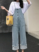 tanie Getry-Damskie Podstawowy Szczupła Kombinezon Spodnie - Solidne kolory Jasnoniebieski