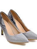 baratos Relógios de Pulseira-Mulheres Sapatos Confortáveis Couro Ecológico Primavera Saltos Salto Agulha Cinzento / Azul / Rosa claro