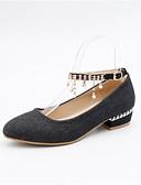 cheap Bodysuit-Women's Comfort Shoes Denim Spring Heels Low Heel Gold / Black / Silver