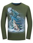 ieftine Maieu & Tricouri Bărbați-Bărbați Tricou Șic Stradă - Animal Imprimeu Lup