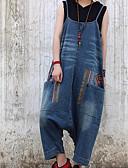 ieftine Pantaloni de Damă-Pentru femei Bumbac Pantaloni Chinos / salopetă Pantaloni - Mată Albastru piscină