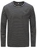 billige Hettegensere og gensere til herrer-T-skjorte Herre - Stripet, Trykt mønster