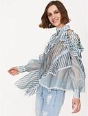 ieftine Bluză-bluza pentru femei - gât rotund dungat