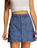 tanie Damska spódnica-Damskie Podstawowy Mini Bodycon Spódnice Solidne kolory