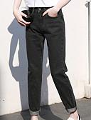 ieftine Pantaloni de Damă-Pentru femei De Bază Blugi Pantaloni - Mată Talie Înaltă Albastru piscină