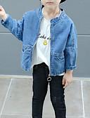 povoljno Haljine za djevojčice-Djeca Djevojčice Osnovni Jednobojni / Print Dugih rukava Pamuk / Poliester Odijelo i sako Plava 100