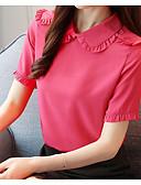 cheap Women's Blouses-women's cotton blouse - solid colored shirt collar