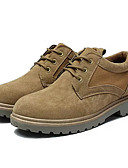 رخيصةأون تيشيرتات وتانك توب رجالي-للرجال أحذية بولوك PU خريف بريطاني أوكسفورد غير الانزلاق أسود / بني