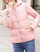 cheap Women's Blouses-Women's Sports Casual Letter Regular Padded, Polyester Long Sleeve Winter Hooded Pink / Gray / Army Green XL / XXL / XXXL