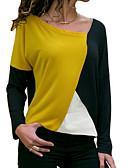 ieftine Tricou-Pentru femei Tricou Bumbac Bloc Culoare