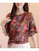 cheap Women's Blouses-Women's Cotton Blouse - Solid Colored / Geometric