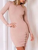 tanie Sukienki-Damskie Podstawowy Szczupła Linia A Sukienka Nad kolano