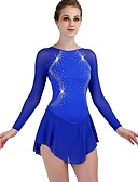 cheap Ice Skating Dresses , Pants & Jackets-Figure Skating Dress Women's / Girls' Ice Skating Dress Royal Blue Spandex, Stretch Yarn Professional / Competition Skating Wear Quick Dry, Anatomic Design, Handmade Classic Long Sleeve Performance