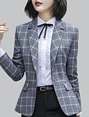 baratos Blazers Femininos-Mulheres Terno Moda de Rua Listrado
