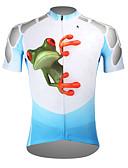 billige Cykeltrøjer-ILPALADINO Herre Kortærmet Cykeltrøje - Blå Frø Cykel Trøje Toppe, Åndbart Hurtigtørrende Ultraviolet Resistent Polyester 100% Polyester Terylene / Elastisk