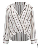cheap Women's Blouses-Women's Basic Shirt - Striped