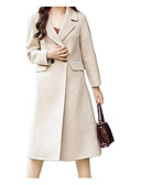 رخيصةأون جمبسوت ورومبرز للنساء-معطف نسائي لون سادة, قبعة القميص صوف