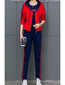 ieftine Costum Damă Două Bucăți-Pentru femei Set - Dungi / Geometric, Pantaloni