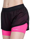 cheap Quartz Watches-Women's Elastic Waistband / With Inner Shorts Running Shorts - Fuchsia, Sky Blue Sports Fashion Spandex, Mesh Shorts Yoga, Fitness, Workout Activewear Breathable, Quick Dry High Elasticity Slim