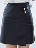 tanie Damska spódnica-Damskie Podstawowy Linia A Spódnice Solidne kolory