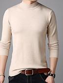 povoljno Muške majice i potkošulje-Muškarci Dugih rukava Slim Pullover Jednobojni Dolčevita