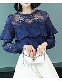 tanie Bluzka-T-shirt Damskie Wyjściowe Półgolf Szczupła - Solidne kolory