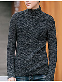 baratos Suéteres & Cardigans Masculinos-Homens Básico Pulôver - Sólido, Patchwork
