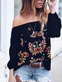abordables Chemises pour Femme-Chemisier / Chemise Femme, Fleur Bateau