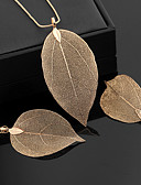cheap Cocktail Dresses-Women's Classic Jewelry Set - Leaf Statement, Ladies, Vintage, Elegant Include Hoop Earrings Pendant Necklace Gold / Black / Silver For Ceremony Evening Party