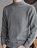 olcso Férfi dzsekik és kabátok-Férfi Hétvége Hosszú ujj Pulóver Egyszínű Körgallér