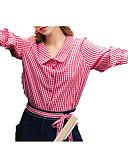 povoljno Ženski dvodijelni kostimi-Žene Aktivan Set - Karirani uzorak Suknja