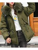ieftine Costum Damă Două Bucăți-Pentru femei Zilnic Activ Mată Regular Căptușit, Poliester Manșon Lung Iarnă Capișon Negru / Roșu-aprins / Verde Militar M / L / XL