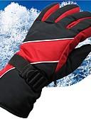 tanie Damskie rękawiczki-Rękawiczki zimowe / Rękawice narciarskie Męskie Rękawiczki z zakrytymi palcami Odporność na wiatr / Wodoodporny / Ochrona przed deszczem Tkanina Narciarstwo / Snowboard Zima
