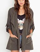 preiswerte Damenmäntel und Trenchcoats-Damen - Solide Trench Coat, Peter Pan-Kragen Baumwolle