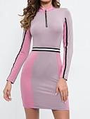 povoljno Ženske haljine-Žene Ulični šik Bodycon Haljina Color block Iznad koljena