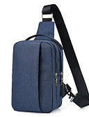 cheap Men's Pants & Shorts-Men's Bags Nylon Sling Shoulder Bag Zipper Dark Blue / Purple / Light Grey