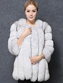 cheap Women's Fur & Faux Fur Coats-women's faux fur fur coat - solid colored