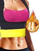 olcso Koszorúslány ruhák-Body Shaper / Hot Sweat Workout tartály felső Slimming Vest / Alakformáló ruha Val vel 1 pcs Elasztán Rugalmas, Cipzár nélkül Fogyás, Tummy Fat Burner, Hasizom formálás mert Jóga / Fitnessz