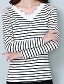 povoljno Ženske majice na bratelice i potkošulje-Majica s rukavima Žene - Osnovni Dnevno Prugasti uzorak