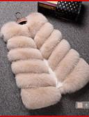 tanie Damskie płaszcze z futrem naturalnym i sztucznym-Futro Damskie Solidne kolory Sztuczne futro