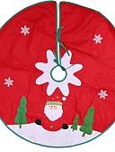 baratos Quartz-Ornamentos Natal Tecido Redonda Novidades Decoração de Natal