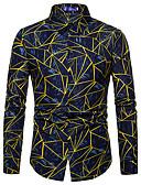 baratos Camisas Masculinas-Homens Camisa Social Básico Floral