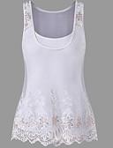 baratos Blusas Femininas-conjunto de senhora - decote redondo em cor sólida