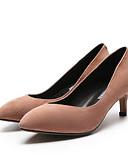 olcso Női ruhák-Női Kényelmes cipők Fordított bőr Tavasz Magassarkúak Tűsarok Fekete / Rózsaszín
