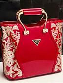 olcso Kvarc-női táskák nappa bőr kivitel virág bor / piros / fekete