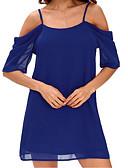 baratos Vestidos Plus Size-Mulheres Básico / Elegante Tamanhos Grandes Calças - Sólido Azul Marinha / Com Alças / Praia / Sexy