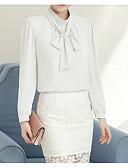 Χαμηλού Κόστους Φορέματα κοκτέιλ-γυναικεία μπλούζα - συμπαγής στρογγυλό λαιμό