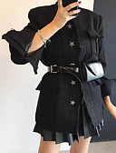 baratos Mini Vestidos-Mulheres Jaqueta Para Noite Sólido